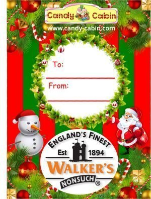 Christmas Label Walkers Toffee Jars Candy Cabin Traditional Online Sweet Shop