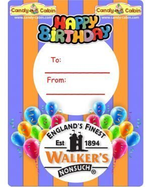 Happy Birthday Walkers Toffee Jars Candy Cabin Traditional Online Sweet Shop